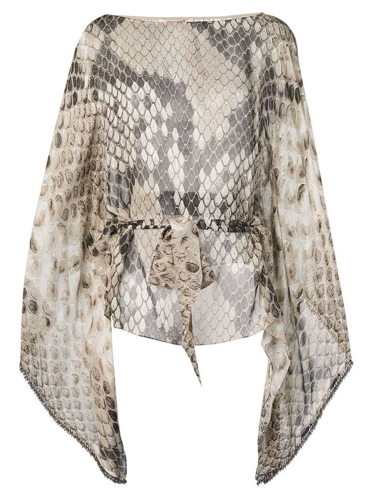 Roberto Cavalli snakeskin print blouse - Neutrals