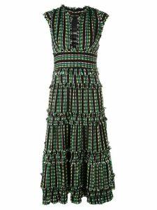Proenza Schouler tiered tweed dress - Black