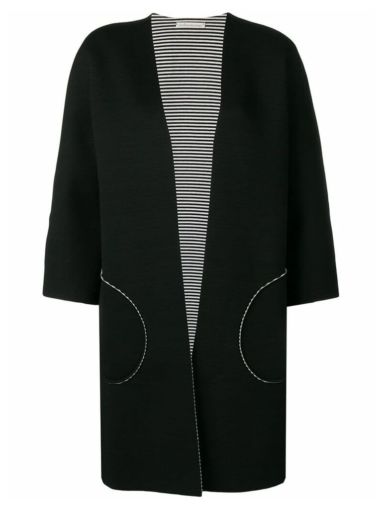 Stefano Mortari kimono cardi-coat - Black