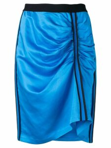 8pm gathered front midi skirt - Blue