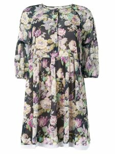 Semicouture Pierce floral shirt dress - Blue