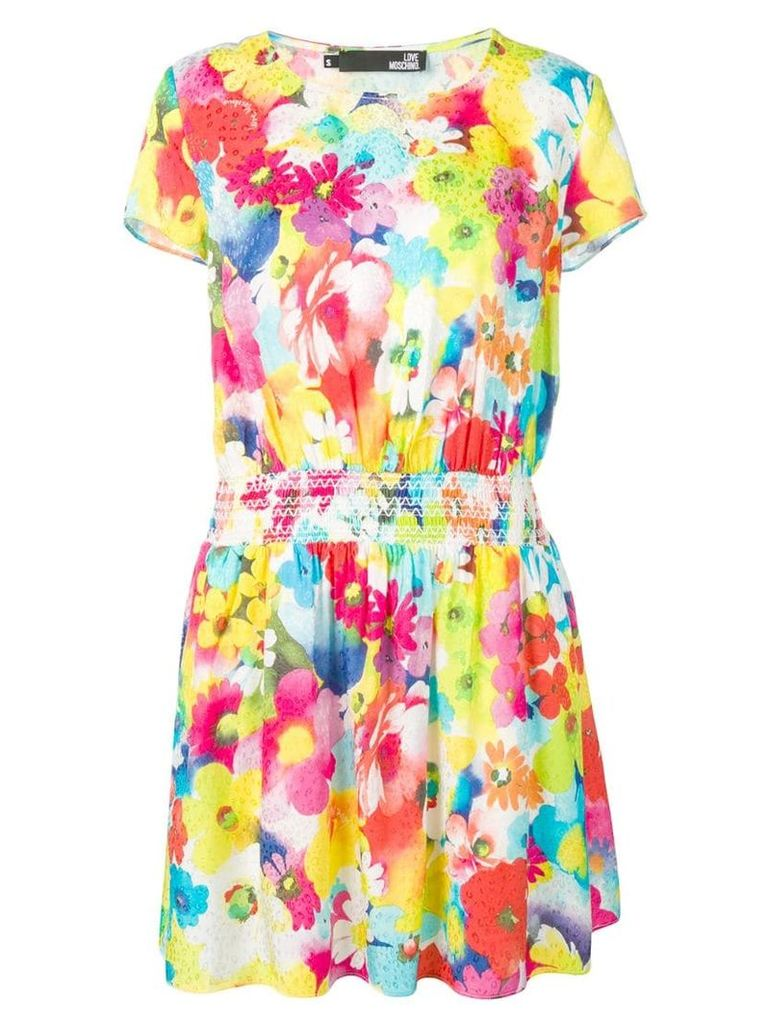 Love Moschino floral T-shirt dress - Yellow