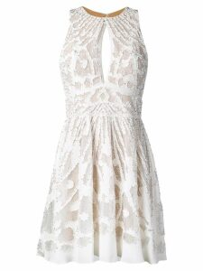 Zuhair Murad lace embroidered mini dress - White