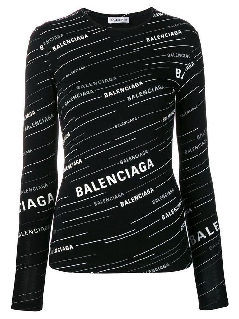 Balenciaga logo printed T-shirt - Black