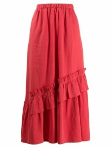 Neul ruffle detail skirt - Red