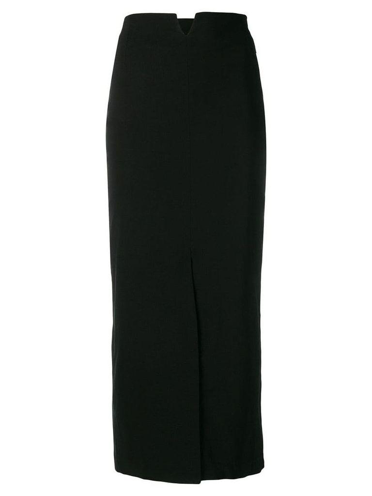 Erika Cavallini straight slit skirt - Blue