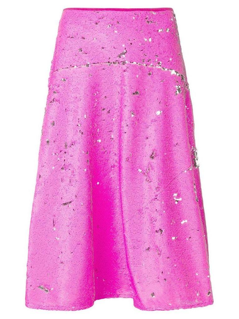 Essentiel Antwerp sequinned midi skirt - Pink