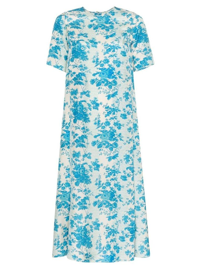 By Walid Tilda loose fit midi dress - Blue