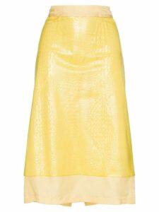 Sies Marjan Sula plastic overlay skirt - Yellow