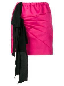 Nº21 ribbon detail skirt - Pink