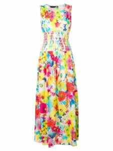 Love Moschino floral fitted dress - White