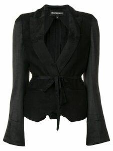 Ann Demeulemeester tie front blazer - Black