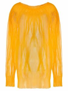Poiret sheer knit blouse - Orange