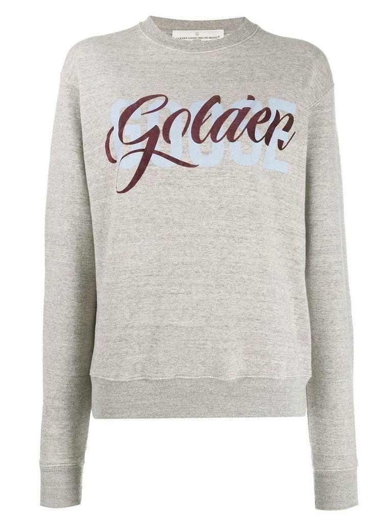 Golden Goose logo print sweatshirt - Grey