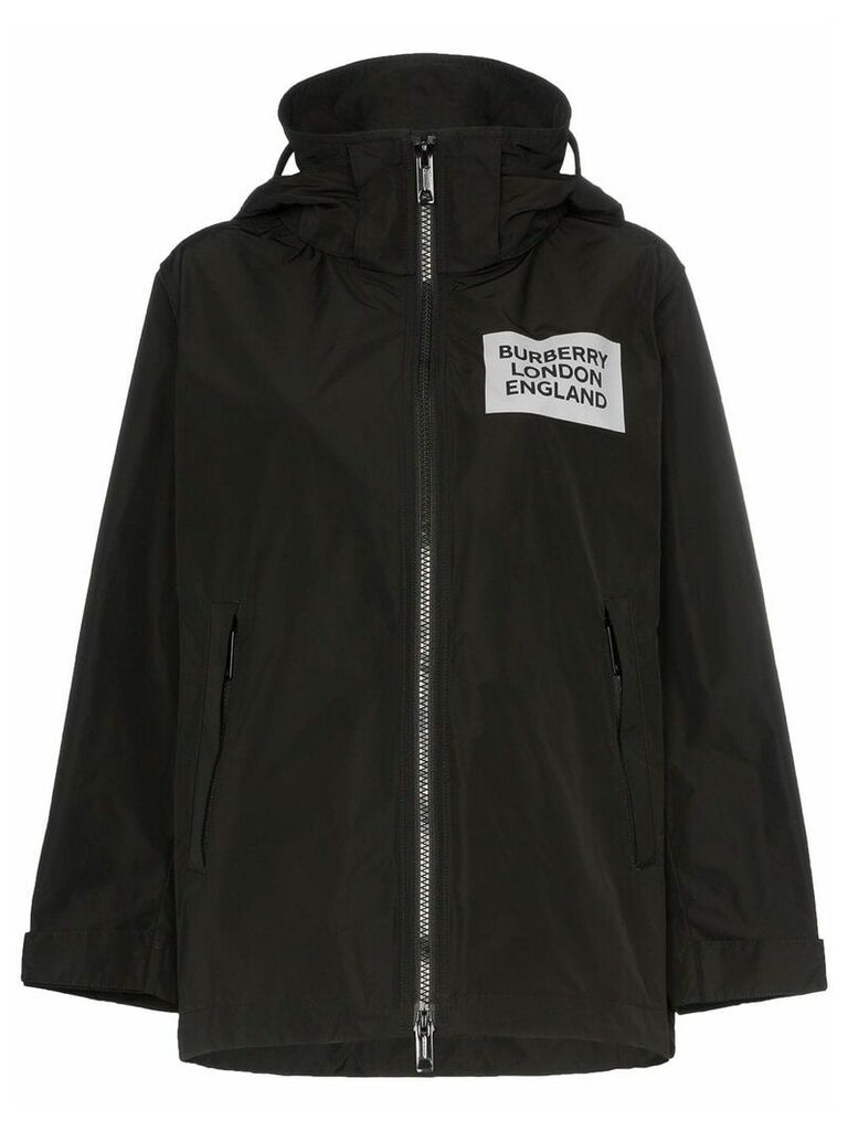 Burberry Millport hooded raincoat - Black