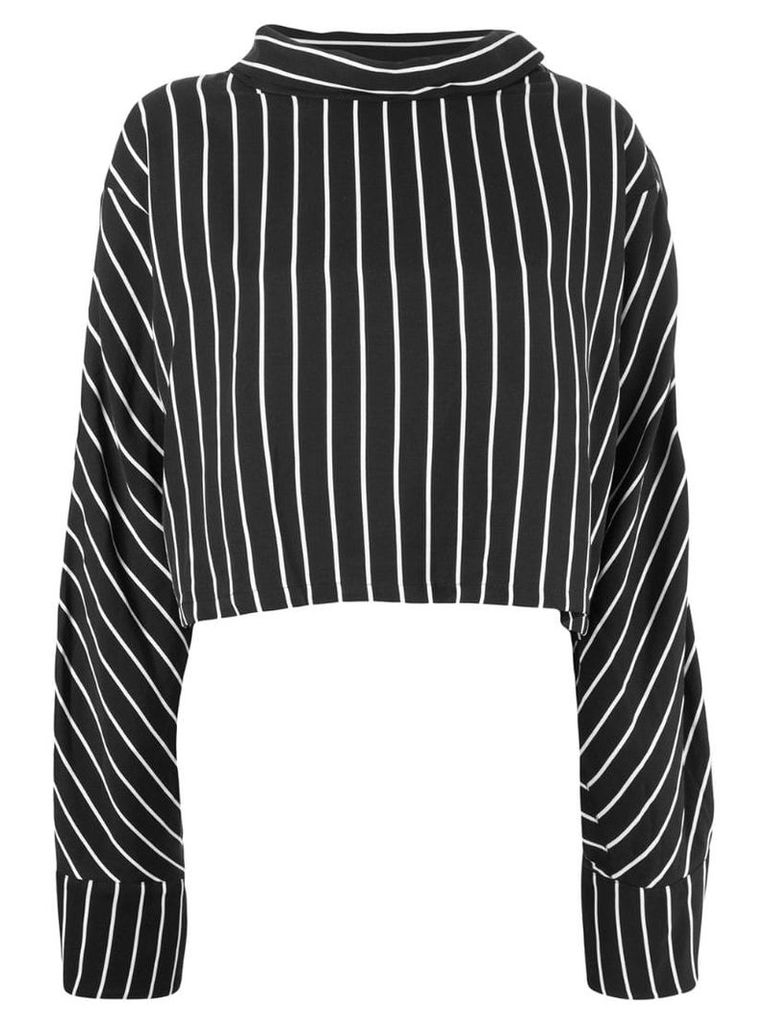 Taylor striped boat neck top - Black