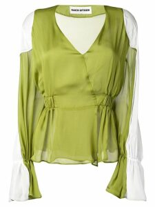 Each X Other shoulder pads blouse - Green