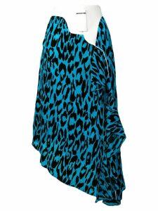 Each X Other leopard print asymmetric skirt - Blue