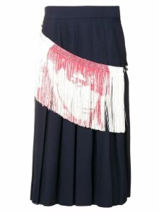 Calvin Klein 205W39nyc fringe detail pleated skirt - Blue