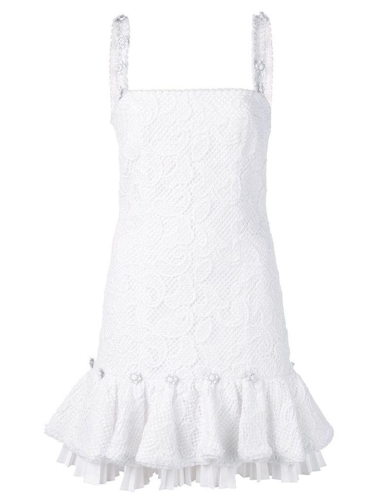 Alexis Richmond embroidered dress - White