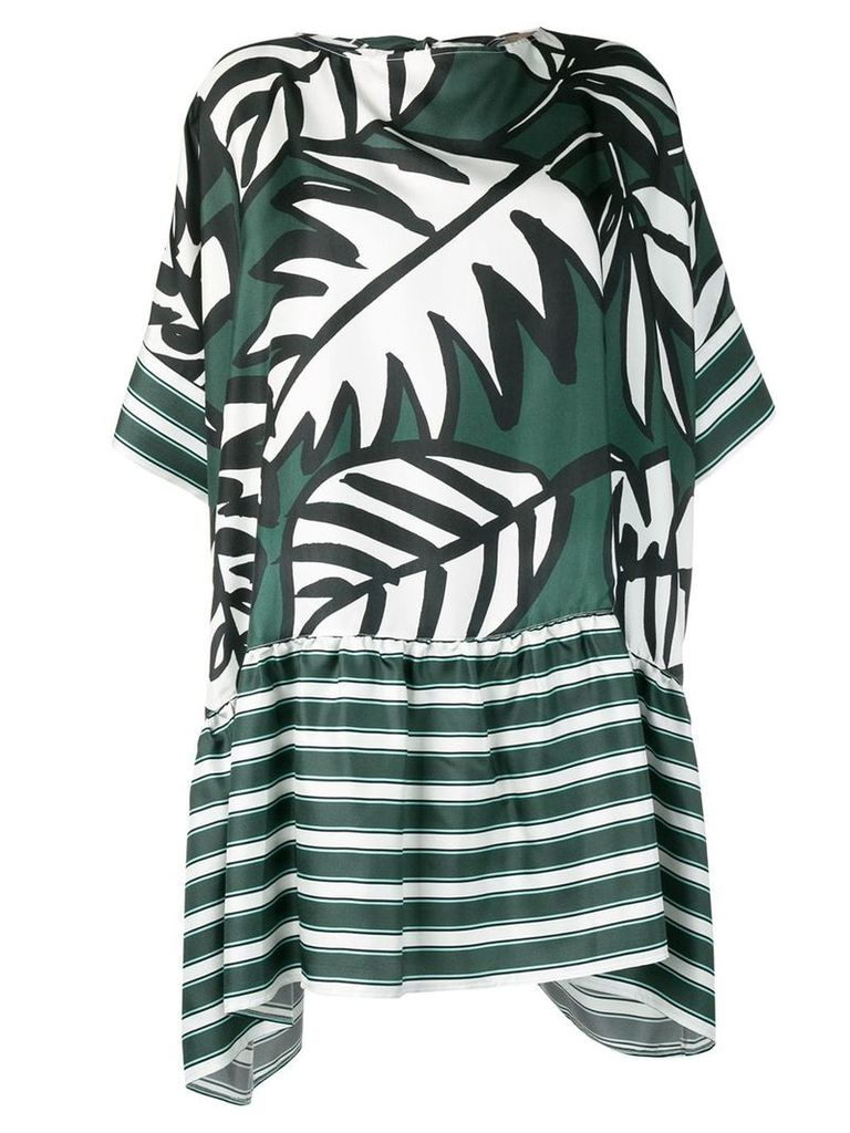 Altea leaf print dress - Green