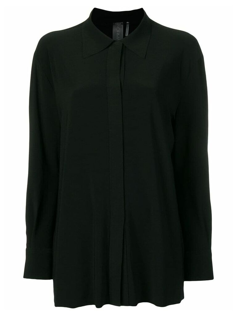 Norma Kamali concealed fastened shirt - Black