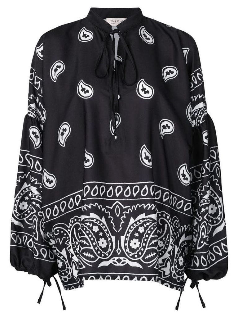 Black Coral paisley pullover