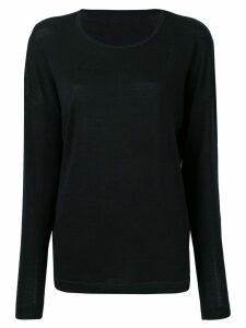 Sottomettimi relaxed-fit jumper - Black