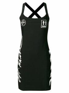 Off-White diag printed dress - Black