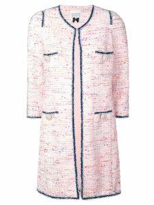 Edward Achour Paris denim trimmed coat - Pink