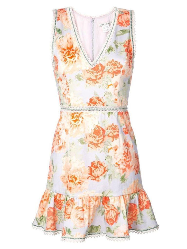 Alice+Olivia Kirean floral print dress - Orange