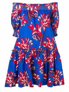 P.A.R.O.S.H. floral-printed dress - Blue