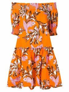 P.A.R.O.S.H. short floral print dress - 819 Arancio Multicolor