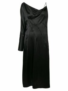 Versace asymmetric draped dress - Black