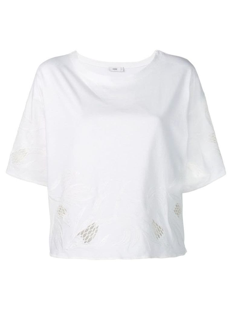 Closed embroidered T-shirt - White