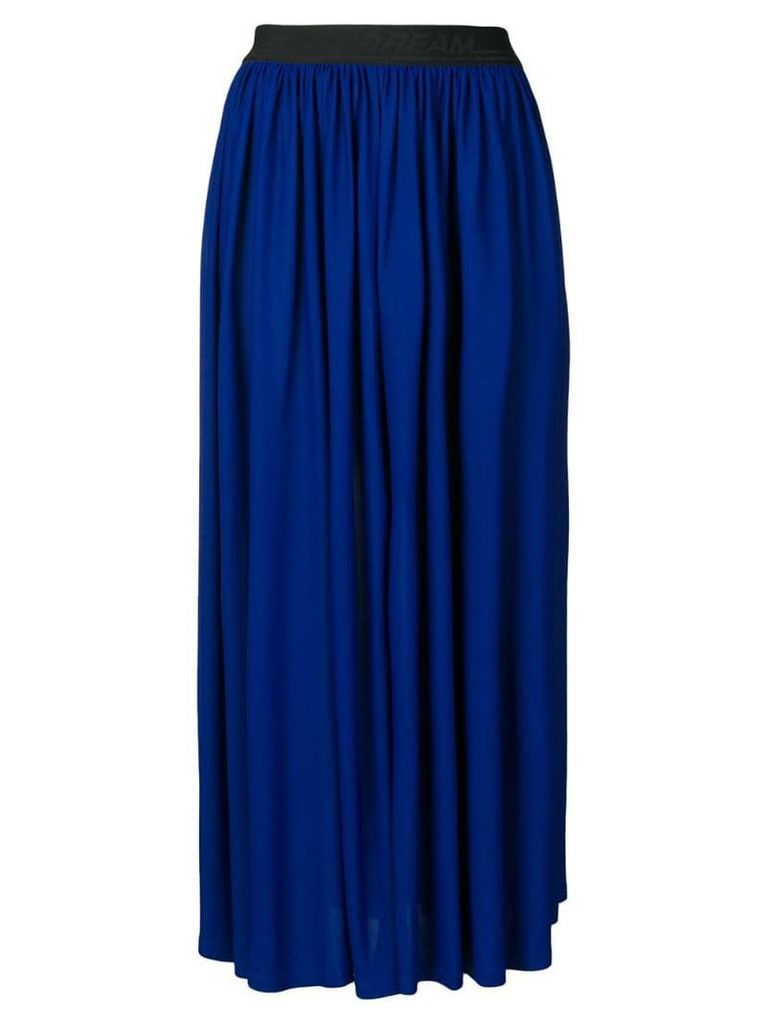 MSGM high waisted full skirt - Blue