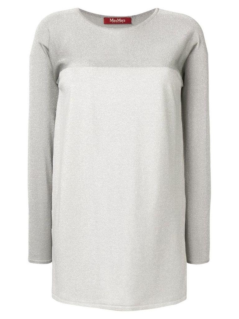 Max Mara Studio colour block knit sweater - Silver