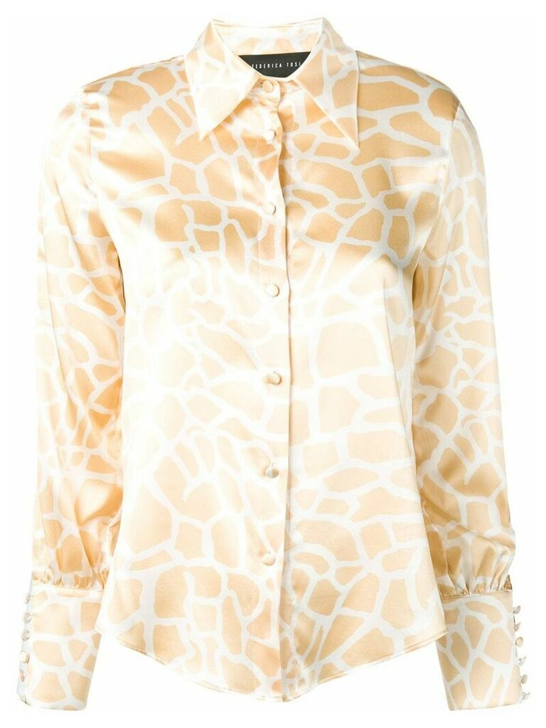 Federica Tosi animal print shirt - Neutrals