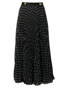 Prada polka dot print pleated skirt - Black