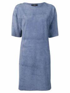 Arma short sleeve shift dress - Blue