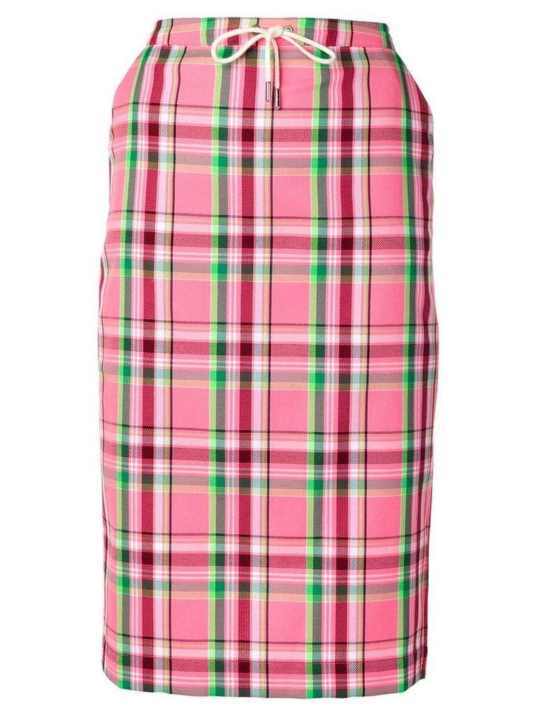 Essentiel Antwerp plaid pencil skirt - Pink