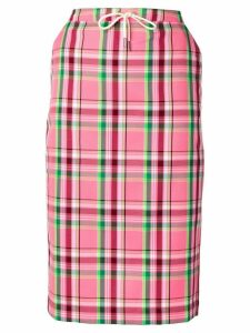 Essentiel Antwerp plaid pencil skirt - Pink