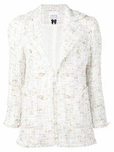Edward Achour Paris fitted tweed blazer - White