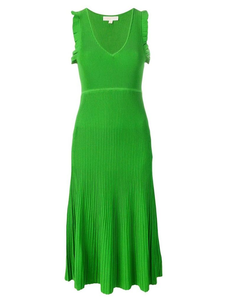 Michael Michael Kors ribbed midi dress - Green