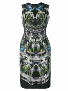 Alexander McQueen hologram print dress - Black