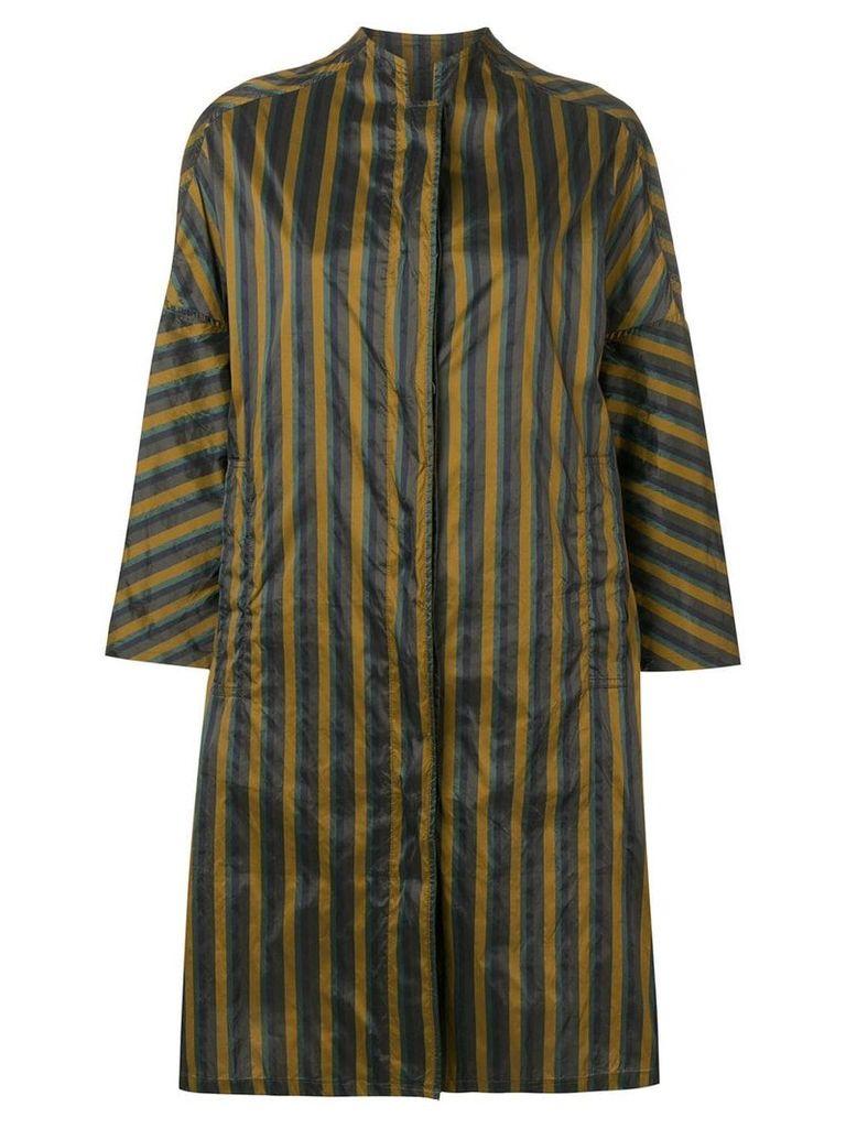 Aspesi oversized striped raincoat - Green