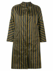 Aspesi oversized striped raincoat - Green
