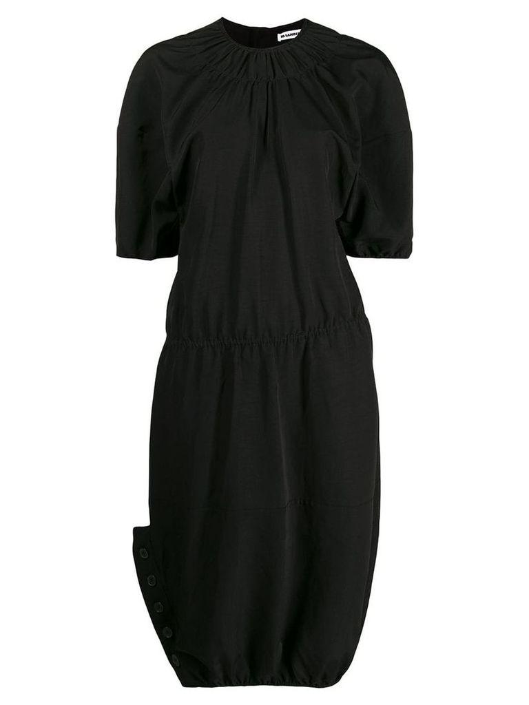 Jil Sander puffball sleeve dress - Black