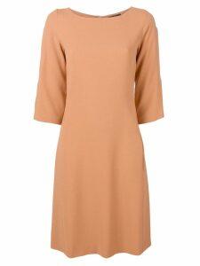 Antonelli round-neck shift dress - Neutrals