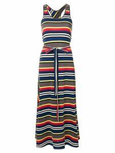 Aspesi striped maxi dress - Blue